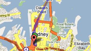 <b>OMVEI: </b>Google Maps foreslår en 18 minutters omvei når du skal over gaten.