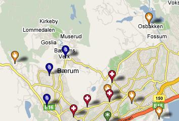 Her ser du hvor det skjer i Bærum.