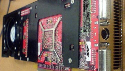 Det nye skjermkortet fra ATi. Dette er en prototype.