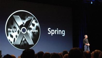 Steve Jobs presenterer Apples nye OS, Leopard.