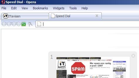 Opera 9.2 gir deg Speed Dial. Bedre oversikt og kjappere surfing.