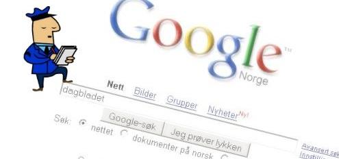 """GAMMELDAGS?  Konkurrentene kritiserer Googles """"gammeldagse"""" brukergrensesnitt."""