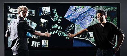 <b>TA PÅ-SKJERM: </b> Slik ser den trykkfølsomme flatskjermen ut på veggen.