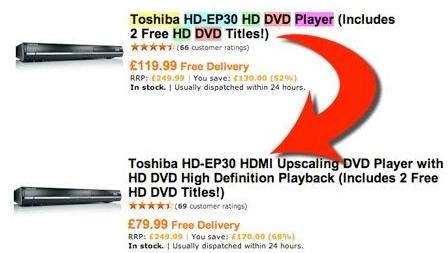 Gjør et kupp på en DVD-spiller (med HD DVD mulighet..)