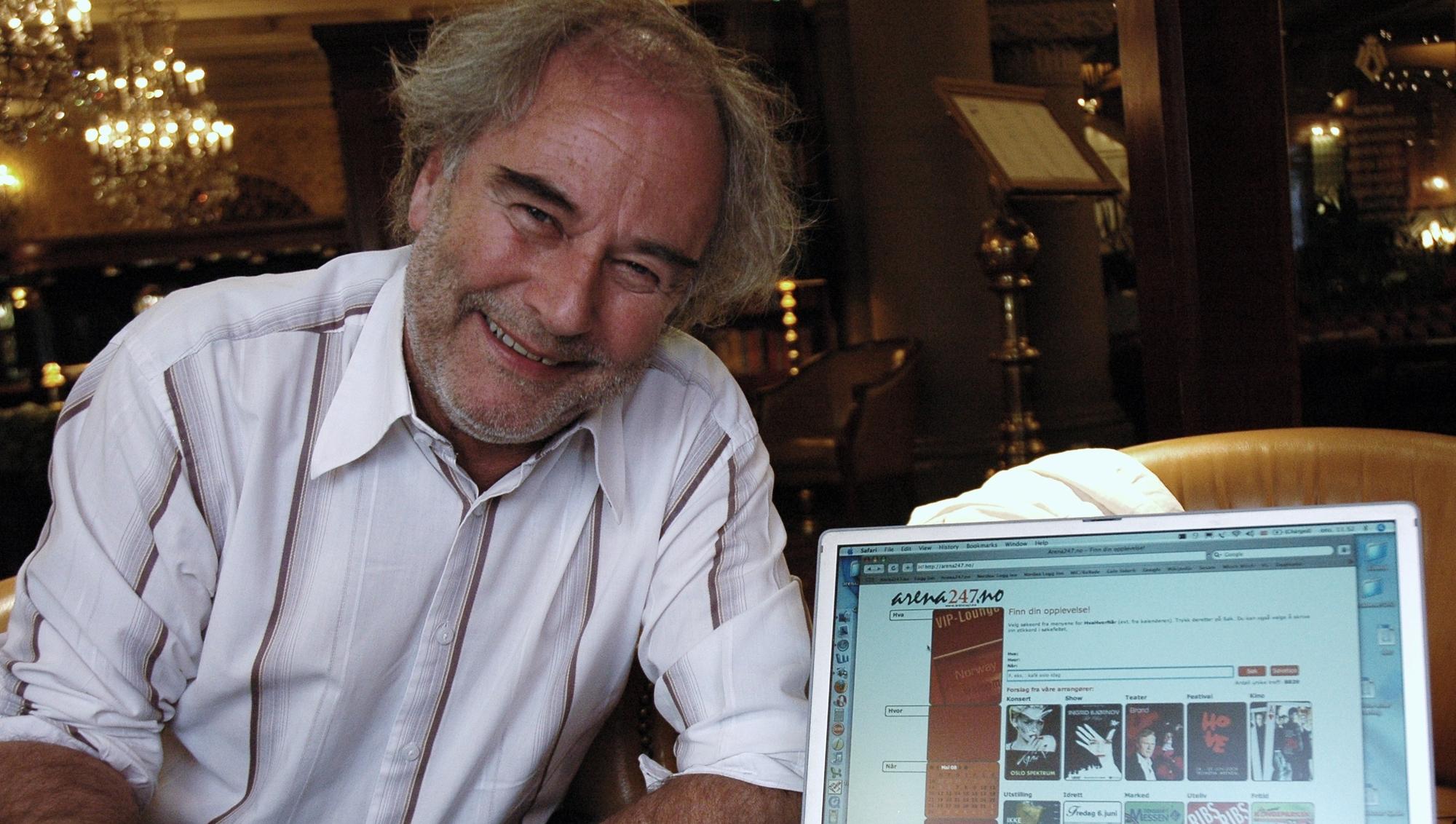 Ole A. Sørli er strålende fornøyd med sin nye søkemotor for kultur- og underholdningslivet.