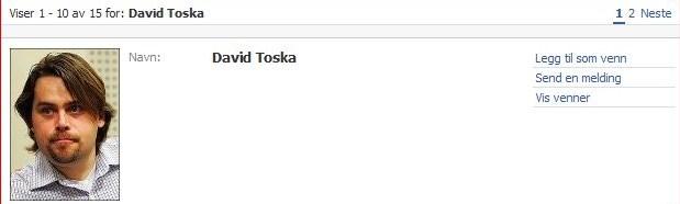 Slik framstår profilen til «Davis Toska» på Facebook. Nå vil Toskas advokat ha den fjernet.