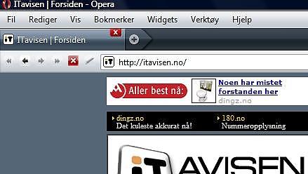 Nytt brukergrensesnitt i Opera 9.5.