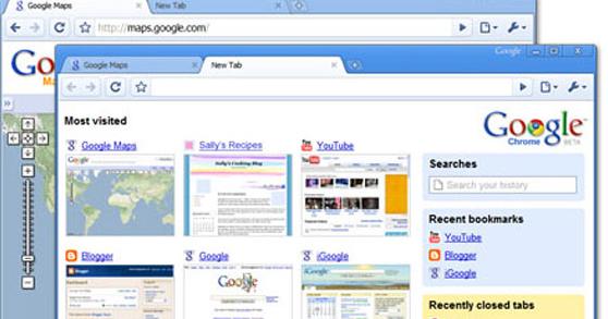 Slik ser altså Googles nettleser Chrome ut.