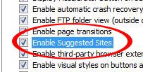 Denne funksjonen i IE8 Beta 2 kan skrues av.