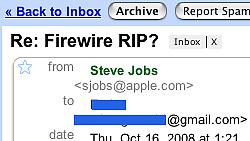 Steve Jobs tok seg tid til å svare en vanlig Mac-bruker. Men svaret var innsenderen neppe fornøyd med.