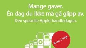 Apple feirer black friday også på den norske nettbutikken.