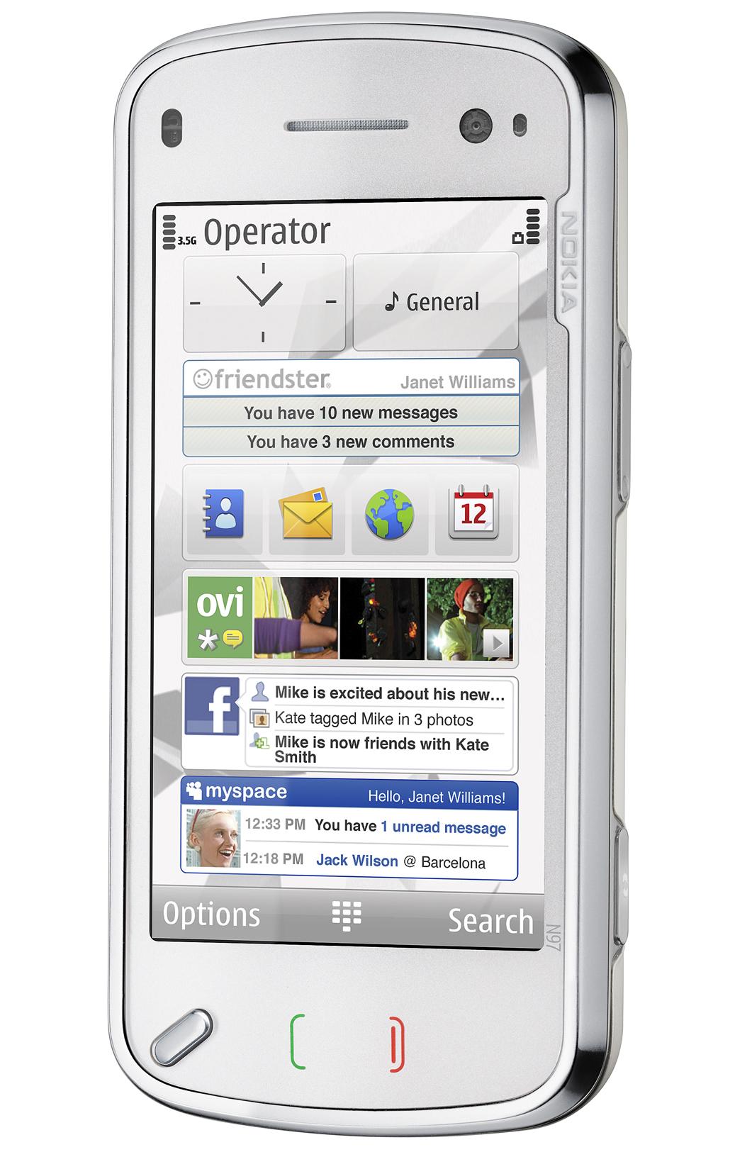 Nokia N97 kommer på markedet til sommeren, men har neppe den nye, trådløse strømoverføringen om bord.