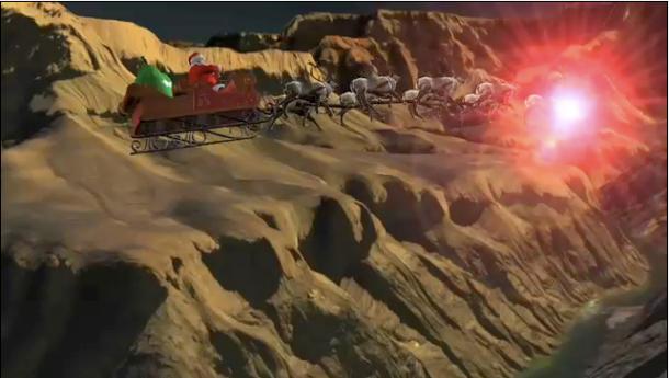 Følg Julenissen i HD i 3D innimellom ribba, akevitten og gaveutpakkingen...
