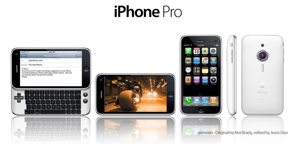 Nettstedet Gizmodo har endret på en rekke ting på iPhone, og kaller kreasjonen iPhone Pro.