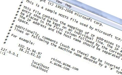 Hosts-filen blokkerer tilgangen til The Pirate Bay og Mininova. Hosts-filen finner man i Vista under windowssystem32drivers.