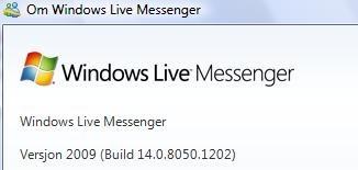 Har du build 1202 har du den endelige utgaven av Windows Live Messenger skal vi tro Neowin.net.