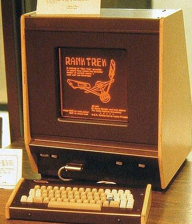 De første plasmaskjermene dukket opp allerede i 1981. Her i en Plato PC-terminal.