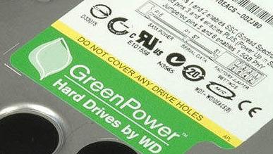 Den nye disken blir en del av WDs GreenPower-serie.