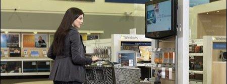 Microsoft skal utvide antallet egne butikker kraftig. Her fra en prøve-butikk.