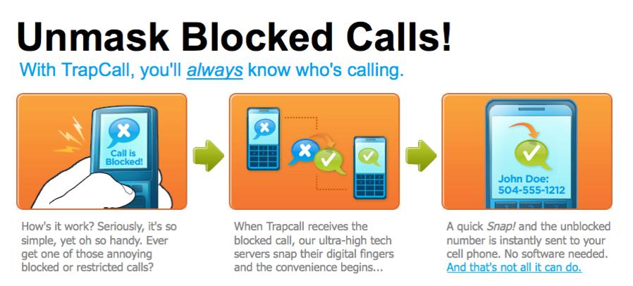 Slik forklarer TrapCall hvordan anonyme numre blir avslørt.