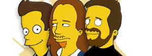 Pirate Bay-gutta Peter Sunde, Gottfrid Warg og Fredrik Neij i spøkefull Simpsons-utgave. Filmbransjen synes ikke de er morsomme i det hele tatt.