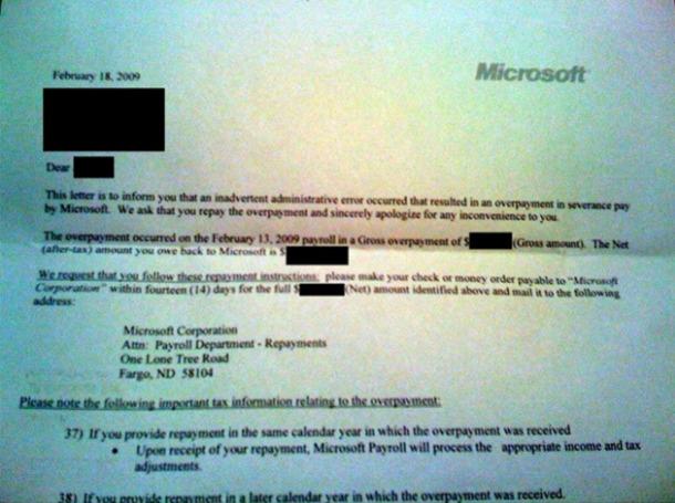 Her er brevet Microsoft sendte til 1400 tidligere ansatte. Nå trekker de det tilbake.