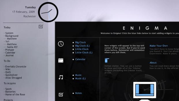 Enigma 2.0 er lett å installere via .exe-installeren. Etter installeringen er det bare å plukke de widgetene man trenger.