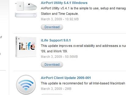Airport og iLife var noen av produktene som i går ble oppdatert.