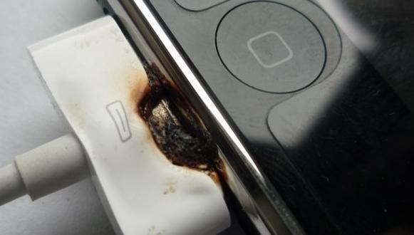 iPhone 3G-ladekabelen smeltet etter tre timer koblet til PCen for lading.