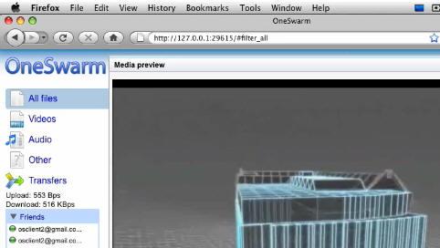 «OneSwarm» fungerer i nettleseren og derfor kompatibel med alle operativsystem.