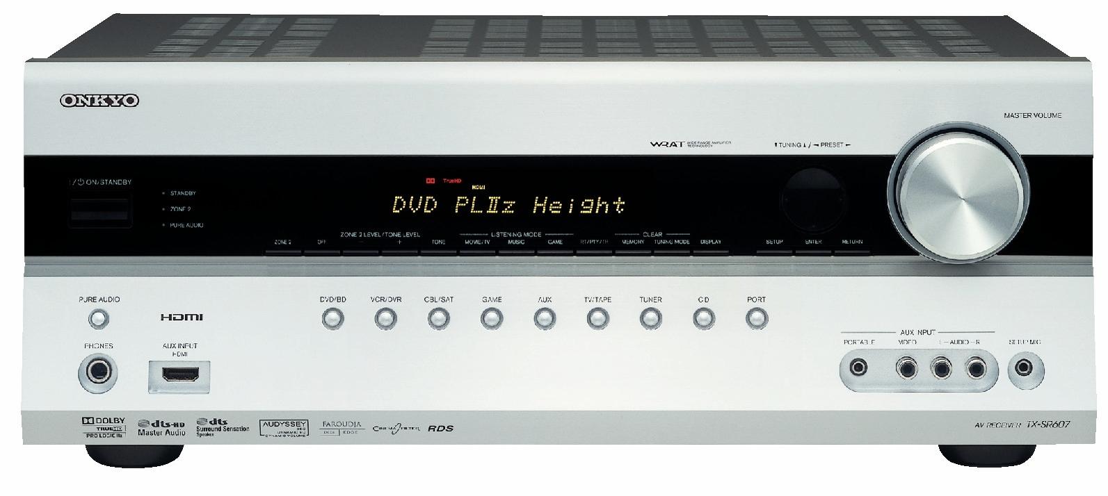 Onkyo TX-SR607 skal være verdens første hjemmekinoreceiver med Dolby Pro Logic IIz.