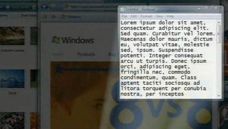 Denne funksjonen kalte Windows 7-utviklerne Bat Signal, men endte etter mange modifikasjoner som Aero Peek.