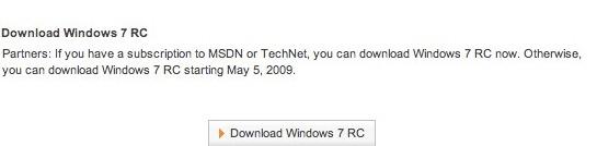 Denne nettsiden var oppe en kort stund på lørdag. Kommer RC-versjonen allerede 5. mai?