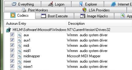Versjon 9.5 gir deg full informasjon om hvilke codecs som er installert og mulighet til å avinstallere en eller flere.