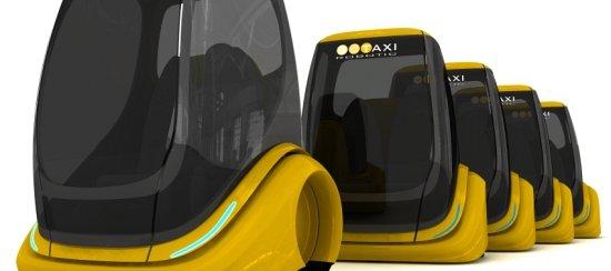Slik ser tsjekkiske Kubik Design for seg en framtidig flåte av helautomatiske taxier.