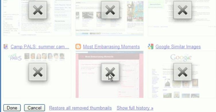 Det er nå mulig å fjerne ofte besøkte nettsider.