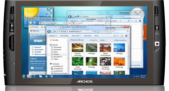 Archos 9 blir trolig verdens første håndholdte PC med Windows 7 forhåndsinstallert.