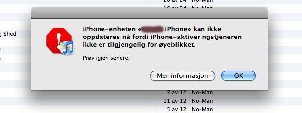 For mange som skal oppdatere? Apple hadde ingen forklaring på trøbbelet onsdag kveld.