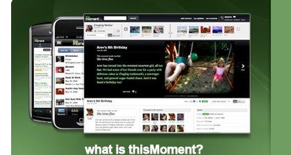 thisMoment.com fungerer både på mobil og PC.