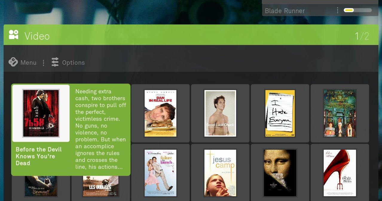 boxee video browsing screenshot
