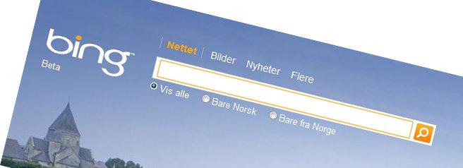 Fra og med Firefox 4 kan du enkelt velge om du vil søke med Google eller Bing.