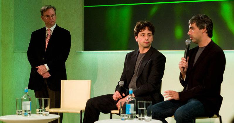 Eric E. Schmidt, Sergey Brin og Larry Page tar sakte men sikkert over rollene som Bill Gates og Steve Ballmer hadde.