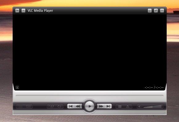 VLC støtter også skins. Her med subX-temaet.