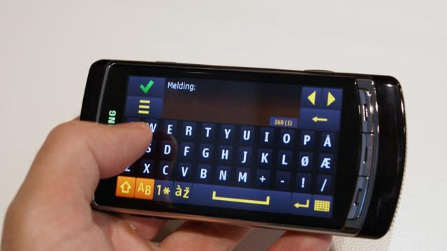 Det er veldig lett å taste inn tekst med dette QWERTY-tastaturet som har egne norske taster.