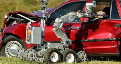 Remotec F6A i en typisk arbeidssituasjon. Bildet er tatt under en demonstrasjon.