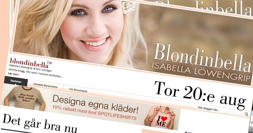 Isabella Löwengrip er Sveriges mest berømte blogger. Men særlig mye penger tjener hun ikke.