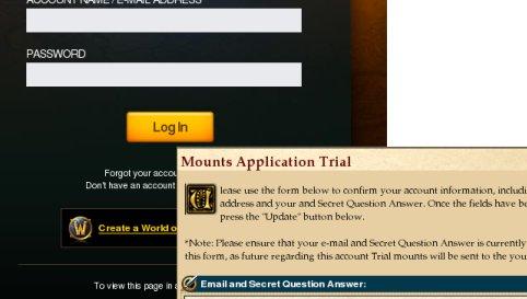 WoW-spillere verden over blir nå forsøkt lurt til å legge inn brukerinformasjon på en falsk Blizzard-side.