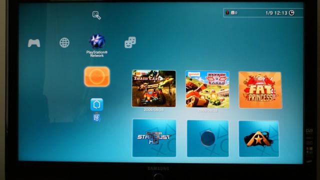 Firmware 3.0, skjermen som viser hva som er nytt