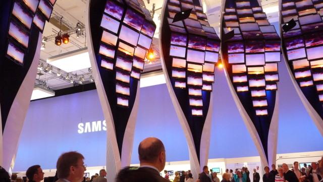 Samsung hadde leid en hel hall for seg selv. Og ikke spart å noe.