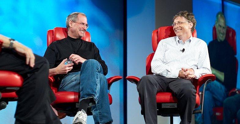 Jobs og Gates intervjuet i forbindelse med All Things D-messen i 2007.